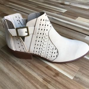 Qupid Shoes - Gorgeous Booties with Laser Cut Detailing